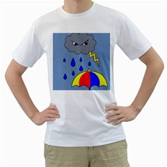 Rainy Day Men s T Shirt (white) (two Sided) by Valentinaart