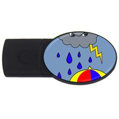 Rainy Day Usb Flash Drive Oval (2 Gb)  by Valentinaart