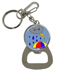 Rainy Day Bottle Opener Key Chains by Valentinaart