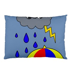 Rainy Day Pillow Case by Valentinaart