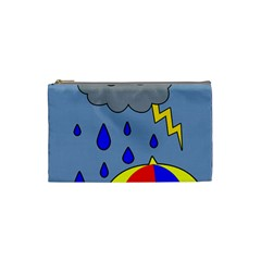 Rainy Day Cosmetic Bag (small)  by Valentinaart