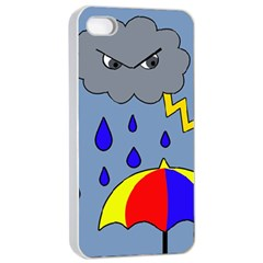 Rainy Day Apple Iphone 4/4s Seamless Case (white) by Valentinaart