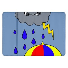 Rainy Day Samsung Galaxy Tab 8 9  P7300 Flip Case by Valentinaart