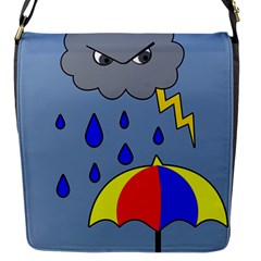 Rainy Day Flap Messenger Bag (s) by Valentinaart