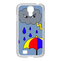 Rainy Day Samsung Galaxy S4 I9500/ I9505 Case (white) by Valentinaart