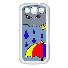 Rainy Day Samsung Galaxy S3 Back Case (white) by Valentinaart