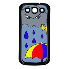 Rainy Day Samsung Galaxy S3 Back Case (black) by Valentinaart
