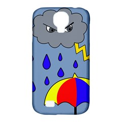 Rainy Day Samsung Galaxy S4 Classic Hardshell Case (pc+silicone) by Valentinaart