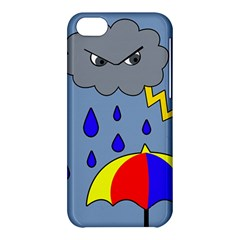Rainy Day Apple Iphone 5c Hardshell Case by Valentinaart