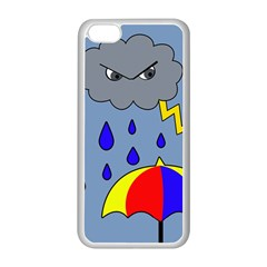 Rainy Day Apple Iphone 5c Seamless Case (white) by Valentinaart