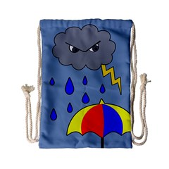 Rainy Day Drawstring Bag (small) by Valentinaart