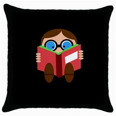 Brainiac  Throw Pillow Case (black) by Valentinaart