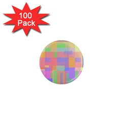 Pastel Decorative Design 1  Mini Magnets (100 Pack)  by Valentinaart