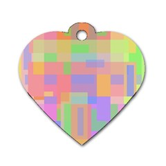 Pastel Decorative Design Dog Tag Heart (one Side) by Valentinaart