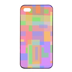 Pastel Decorative Design Apple Iphone 4/4s Seamless Case (black) by Valentinaart