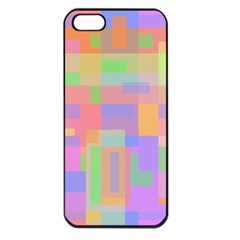 Pastel Decorative Design Apple Iphone 5 Seamless Case (black) by Valentinaart
