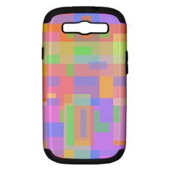 Pastel Decorative Design Samsung Galaxy S Iii Hardshell Case (pc+silicone) by Valentinaart