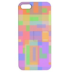 Pastel Decorative Design Apple Iphone 5 Hardshell Case With Stand by Valentinaart
