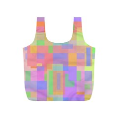 Pastel Decorative Design Full Print Recycle Bags (s)  by Valentinaart