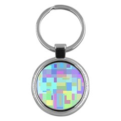 Pastel Geometrical Desing Key Chains (round)  by Valentinaart