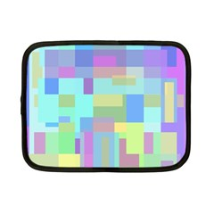 Pastel Geometrical Desing Netbook Case (small)  by Valentinaart