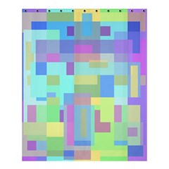 Pastel Geometrical Desing Shower Curtain 60  X 72  (medium)  by Valentinaart