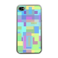 Pastel Geometrical Desing Apple Iphone 4 Case (clear) by Valentinaart