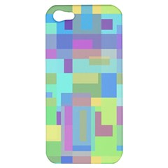 Pastel Geometrical Desing Apple Iphone 5 Hardshell Case by Valentinaart
