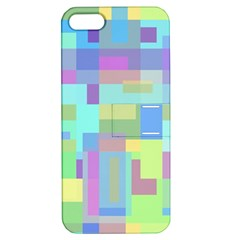 Pastel Geometrical Desing Apple Iphone 5 Hardshell Case With Stand by Valentinaart