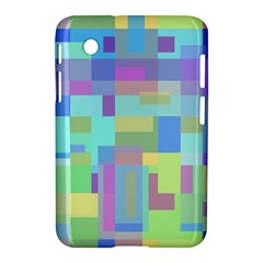 Pastel Geometrical Desing Samsung Galaxy Tab 2 (7 ) P3100 Hardshell Case  by Valentinaart