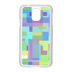 Pastel Geometrical Desing Samsung Galaxy S5 Case (white) by Valentinaart