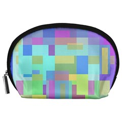 Pastel Geometrical Desing Accessory Pouches (large)  by Valentinaart