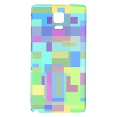 Pastel Geometrical Desing Galaxy Note 4 Back Case by Valentinaart