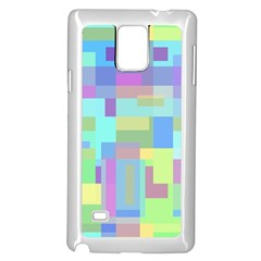 Pastel Geometrical Desing Samsung Galaxy Note 4 Case (white) by Valentinaart