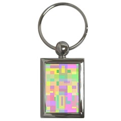 Pastel Colorful Design Key Chains (rectangle)  by Valentinaart