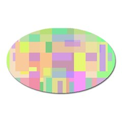 Pastel Colorful Design Oval Magnet by Valentinaart