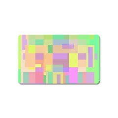 Pastel Colorful Design Magnet (name Card) by Valentinaart
