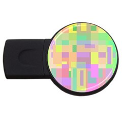 Pastel Colorful Design Usb Flash Drive Round (2 Gb)  by Valentinaart
