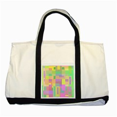 Pastel Colorful Design Two Tone Tote Bag by Valentinaart