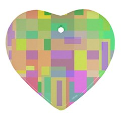 Pastel Colorful Design Heart Ornament (2 Sides) by Valentinaart