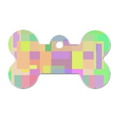 Pastel Colorful Design Dog Tag Bone (two Sides) by Valentinaart