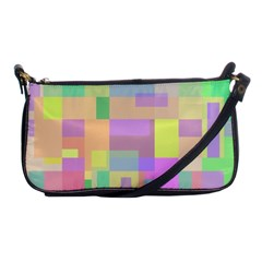 Pastel Colorful Design Shoulder Clutch Bags by Valentinaart