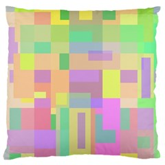 Pastel Colorful Design Large Cushion Case (one Side) by Valentinaart