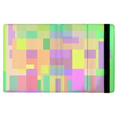 Pastel Colorful Design Apple Ipad 2 Flip Case by Valentinaart