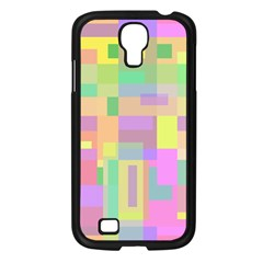 Pastel Colorful Design Samsung Galaxy S4 I9500/ I9505 Case (black) by Valentinaart
