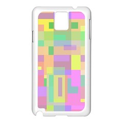 Pastel Colorful Design Samsung Galaxy Note 3 N9005 Case (white) by Valentinaart