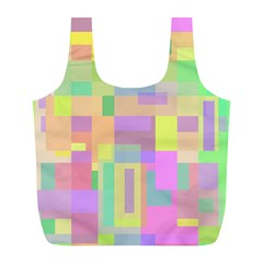 Pastel Colorful Design Full Print Recycle Bags (l)  by Valentinaart