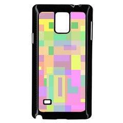 Pastel Colorful Design Samsung Galaxy Note 4 Case (black) by Valentinaart
