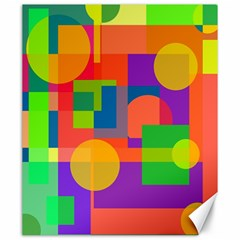 Colorful Geometrical Design Canvas 20  X 24   by Valentinaart