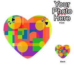Colorful Geometrical Design Playing Cards 54 (heart)